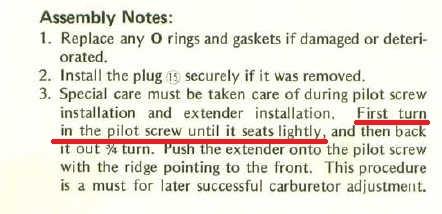 78 650' Carb issue  Broken needle stuck  - KZRider Forum
