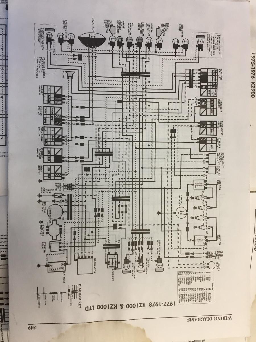 79 B3 Wiring Schematic - KZRider Forum - KZRider, KZ, Z1 & Z ...  Kz Wiring Diagram Diagrams on