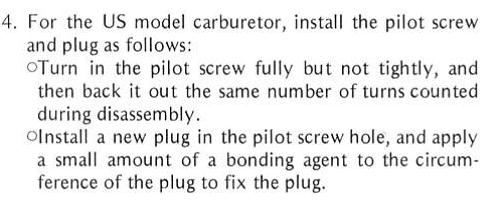 36mm Keihin Pilot Screw: How many turns? - KZRider Forum