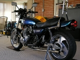 KZ1000 77  Up date exhaust finish lift side