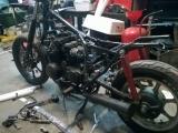 81 KZ550 bobber project teardown 2