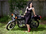 Leena on my '77 KZ650 B1_1