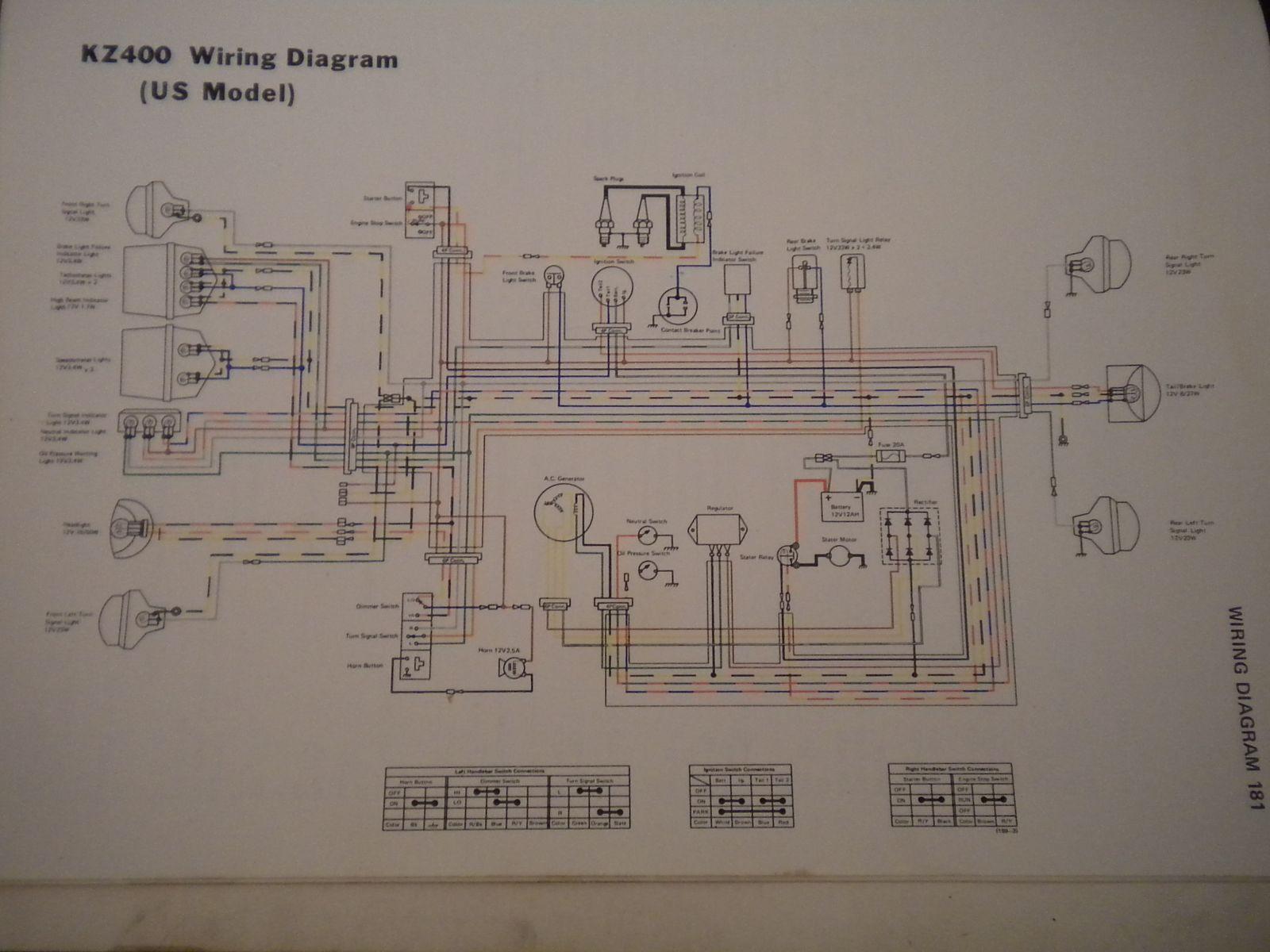 74 Kz 400 Bobber Wiring Diagram - Kzrider Forum