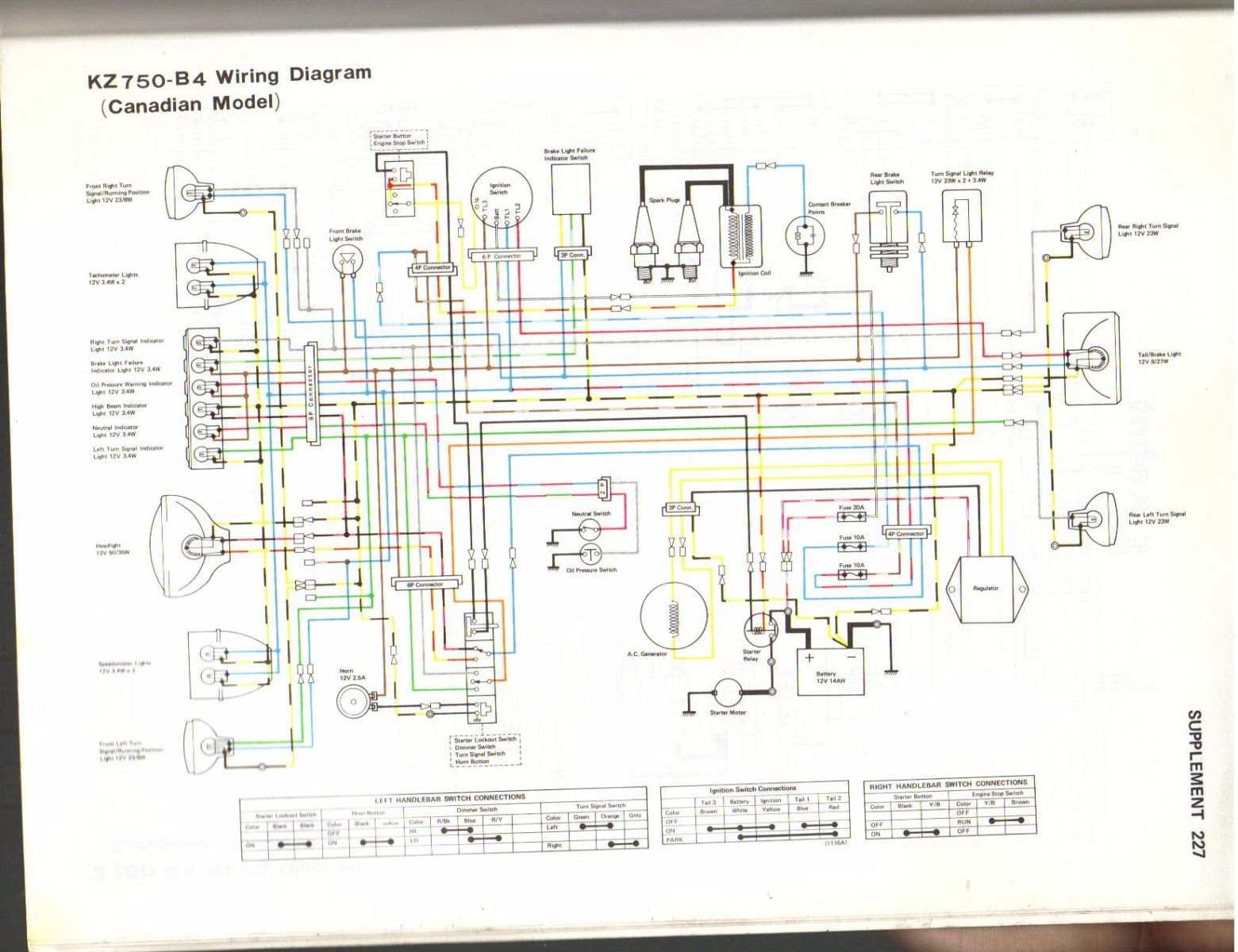 kz750b4wiringdiagram 1976 kz 750 need help! wiring harness kzrider forum kzrider 1977 kz650 wiring diagram at fashall.co