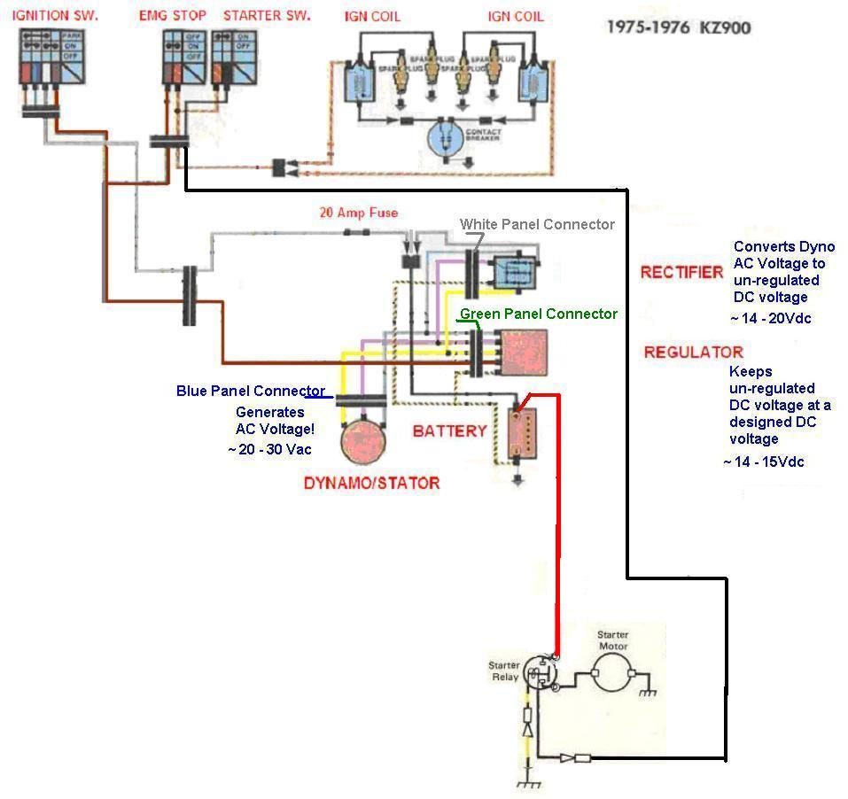 kz900 not charging correcly kzrider forum kzrider, kz, z1 \u0026 z House Wiring Diagrams kz900electricalminimum jpg