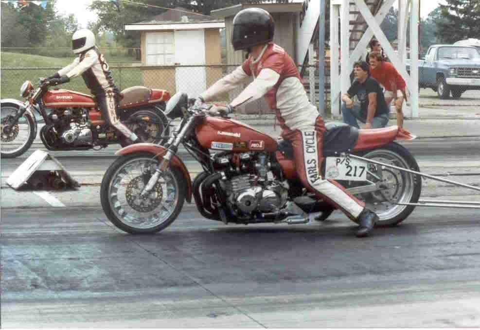 Old School Kawasaki Drag Bike