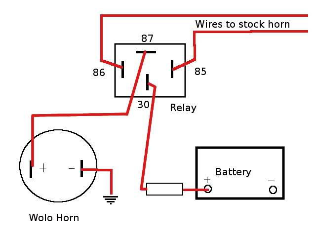 Motorcycle Horn Wiring Diagram from kzrider.com