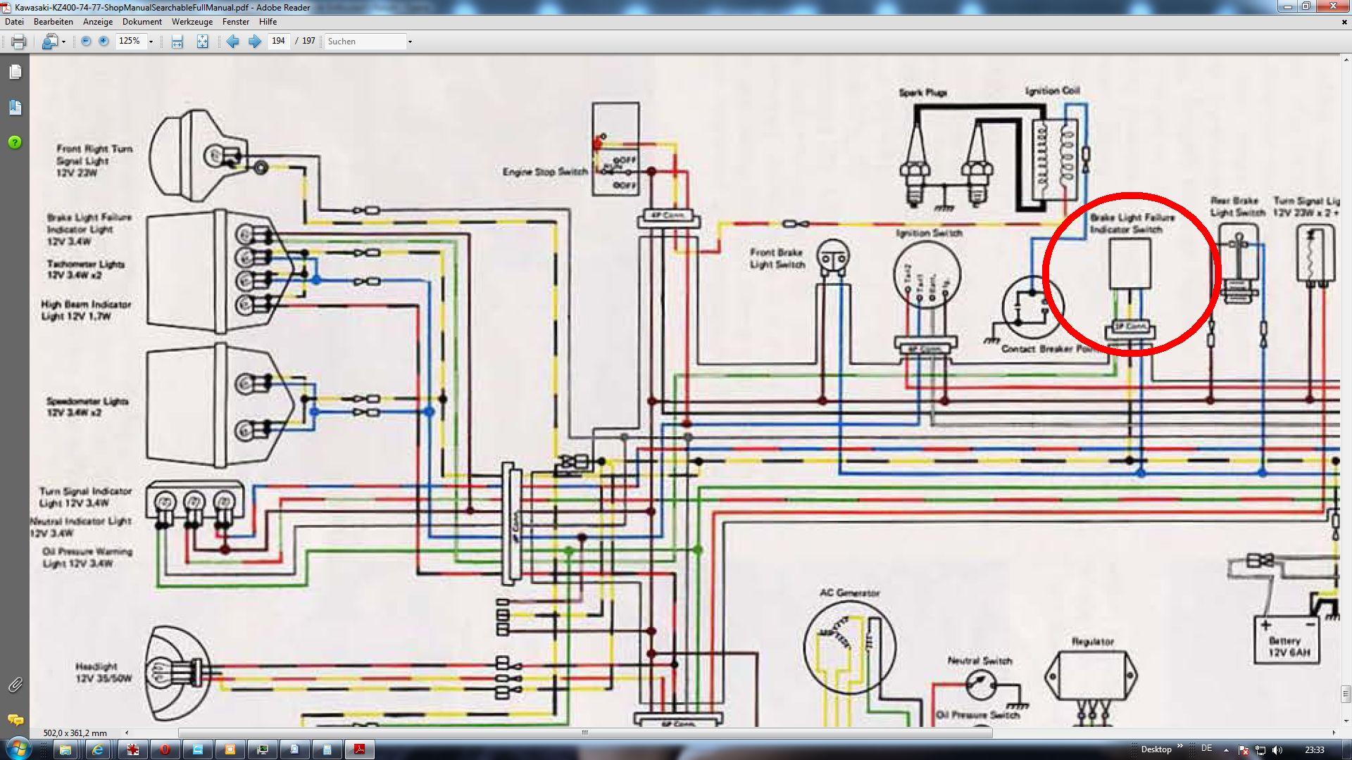 75 U0026 39 -78 U0026 39  Kz400 Stop Light Flashing - Kzrider Forum